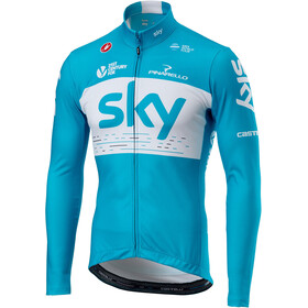Castelli Team Sky Thermal LS Jersey Full Zip Men sky blue